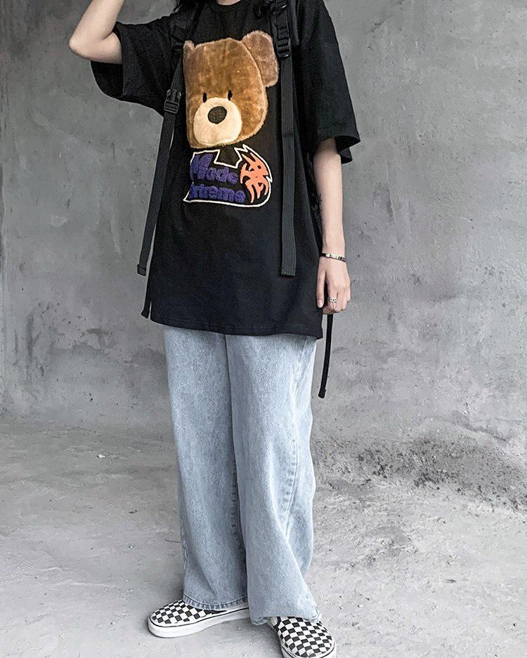 オーバーサイズクマフェイスTシャツの画像5